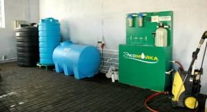 Установка очистки и рециркуляции воды на автомойке в Калуге