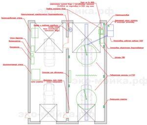 план автомойки тоннель 4 проездных поста